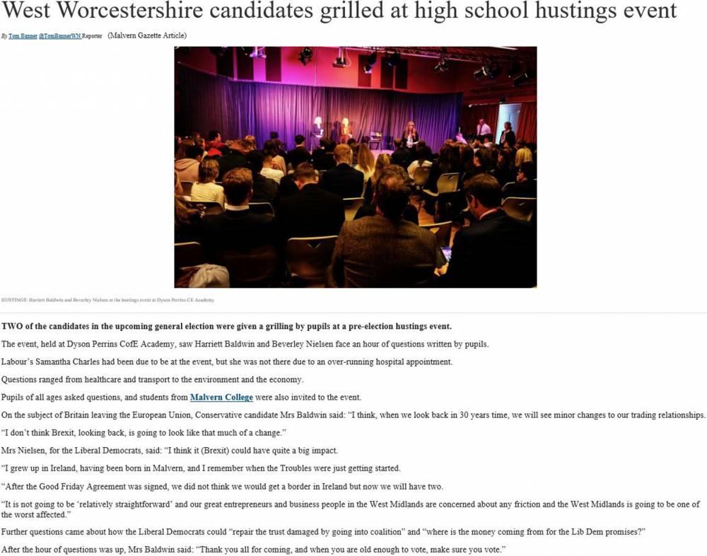 Malvern Gazette News Article