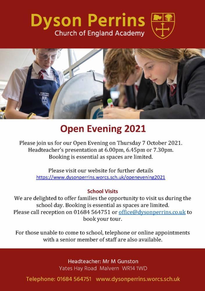 Open Evening 2021
